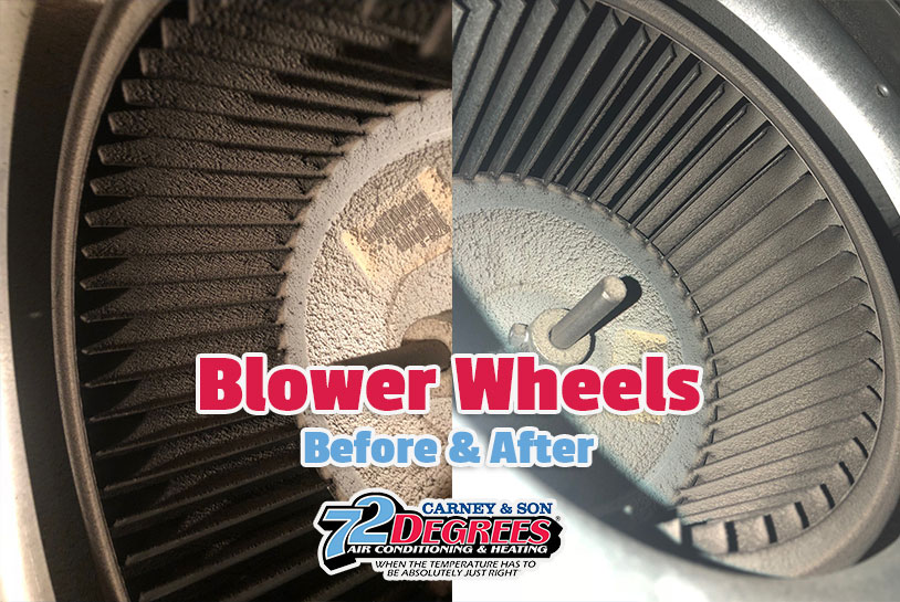 Dirty Blower Wheels! Why you need HVAC Service Mt. Pleasant SC